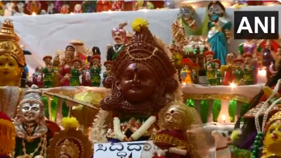 The image shows the display of various dolls.