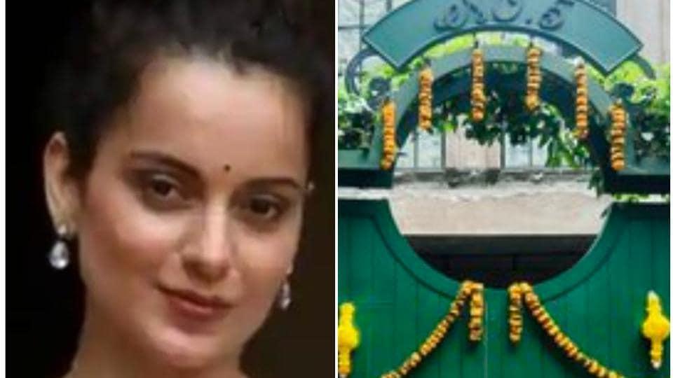 Kangana Ranaut has shared new pictures of her Mumbai property.
