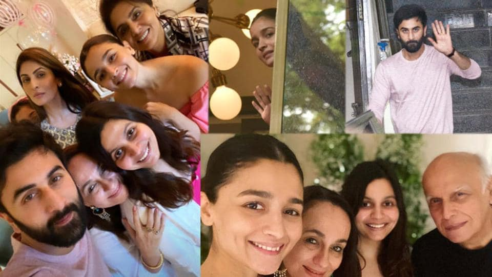 The Kapoors were a part of Soni Razdan's at-home birthday bash on Sunday.