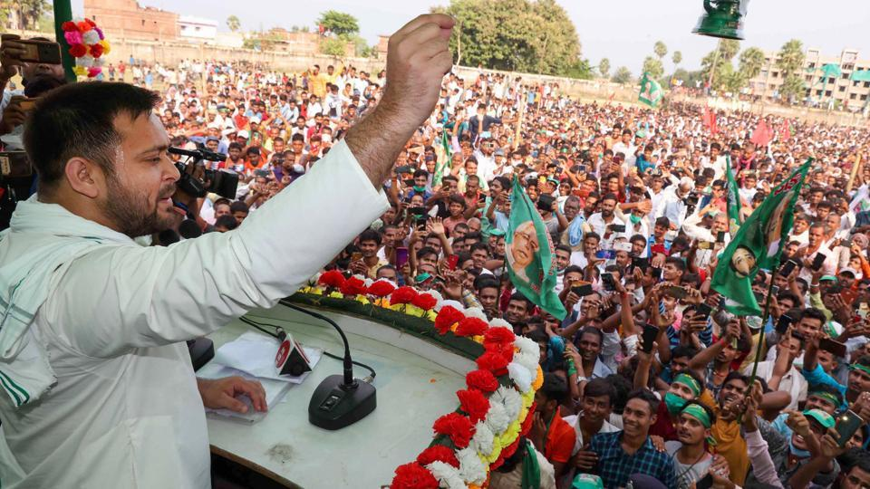 In contrast  to large turnouts  in election rallies for the upcoming Bihar assembly elections, people in urban areas are not holding meetings to decide on who to vote for.
