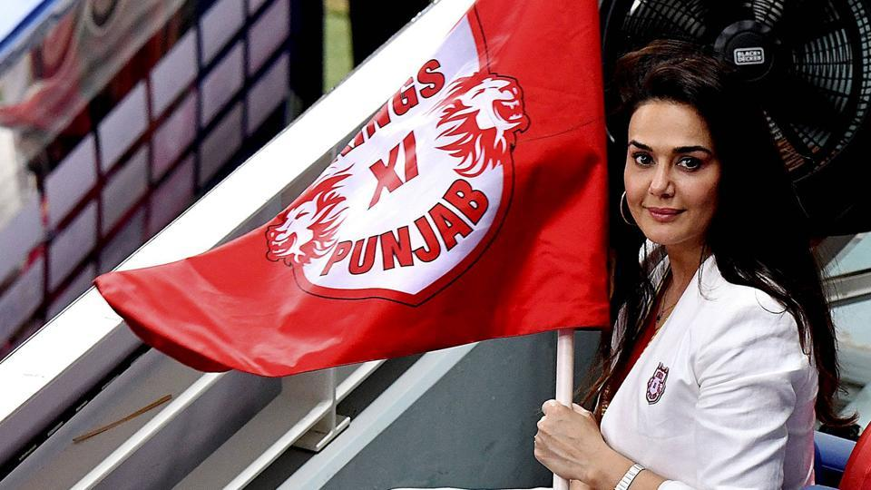 Kings XI Punjab co-owner Preity Zinta.