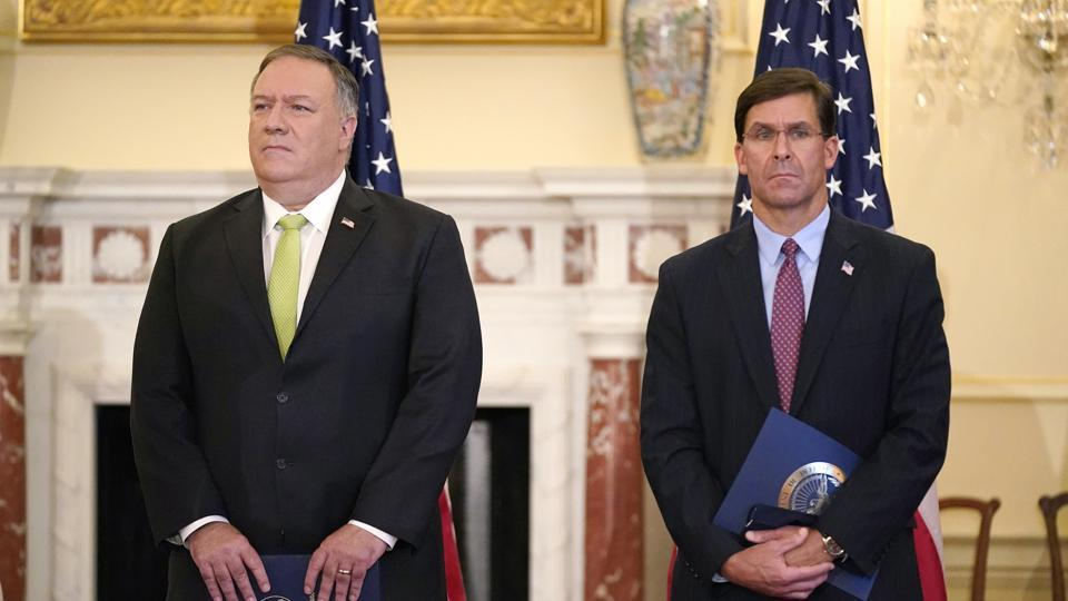 Just a week before November's election, Pompeo and Esper will visit India for meetings focused largely on countering China's growing global influence.