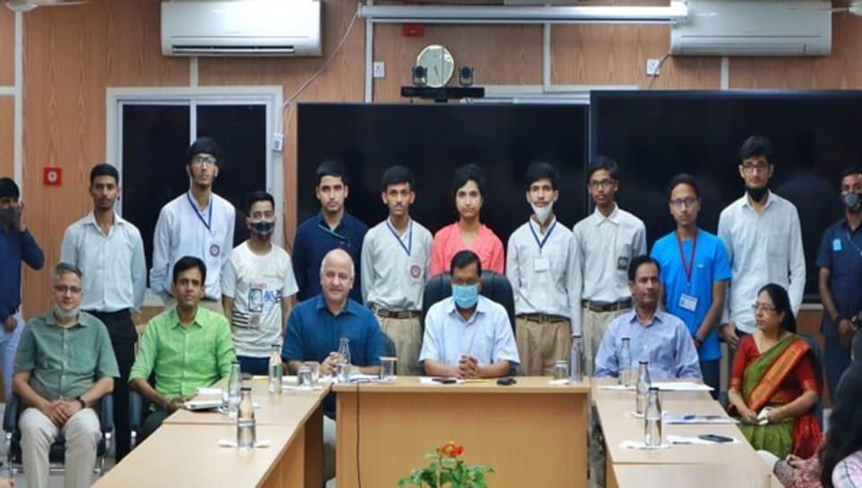 Kejriwal, Sisodia interact with students of Delhi govt schools who performed well in NEET-JEE