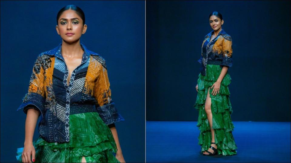 Lakme Fashion Week: Mrunal Thakur's Rs 2.5 lakh embroidered jacket with skirt took 200 hours to make