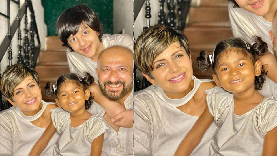 Mandira Bedi adopts 4-year-old daughter, introduces her as Tara 'with eyes that sparkle like stars'. See pic