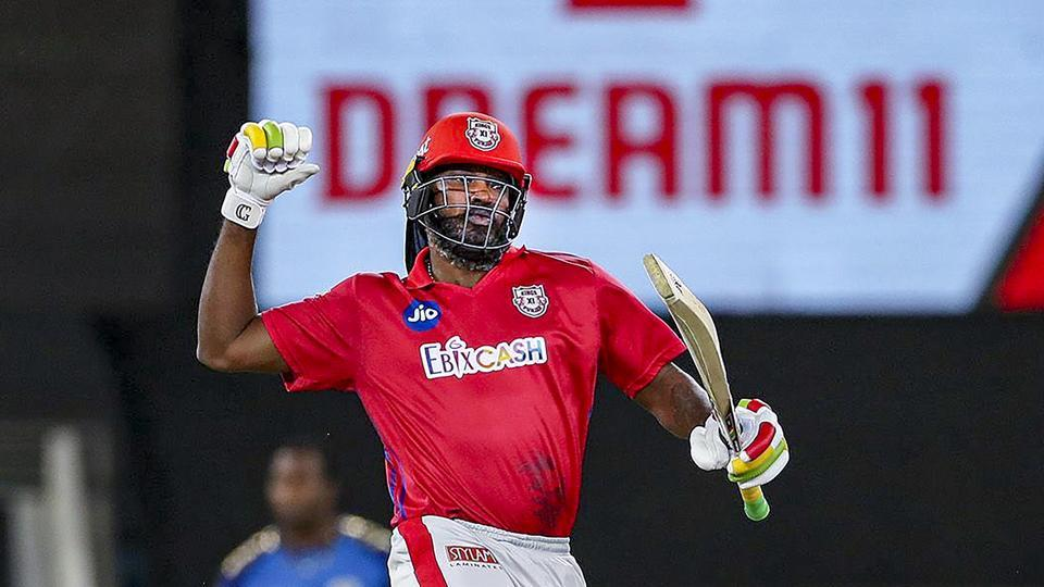 Kings XI Punjab player Chris Gayle.