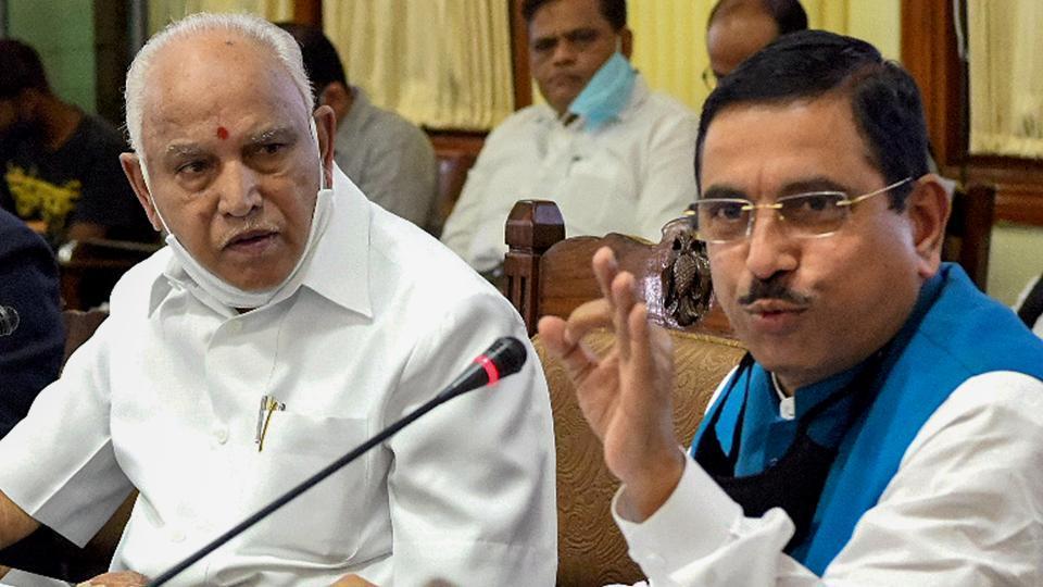 Bengaluru: Union minister Pralhad Joshi said there was no move within the BJP to replace Karnataka Chief Minister BS Yediyurappa