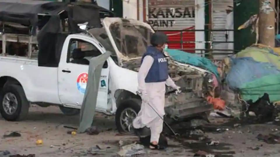 """""""The blast took place in a madrassa where unknown people had planted explosives in a plastic bag,"""" a police officer told news agency Reuters on condition of anonymity."""