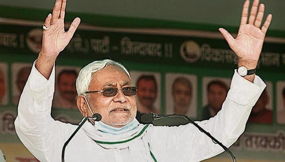 CM Nitish Kumar addresses an election rally in Khagaria; RJD leader Tejashwi Yadav in Vaishali district.