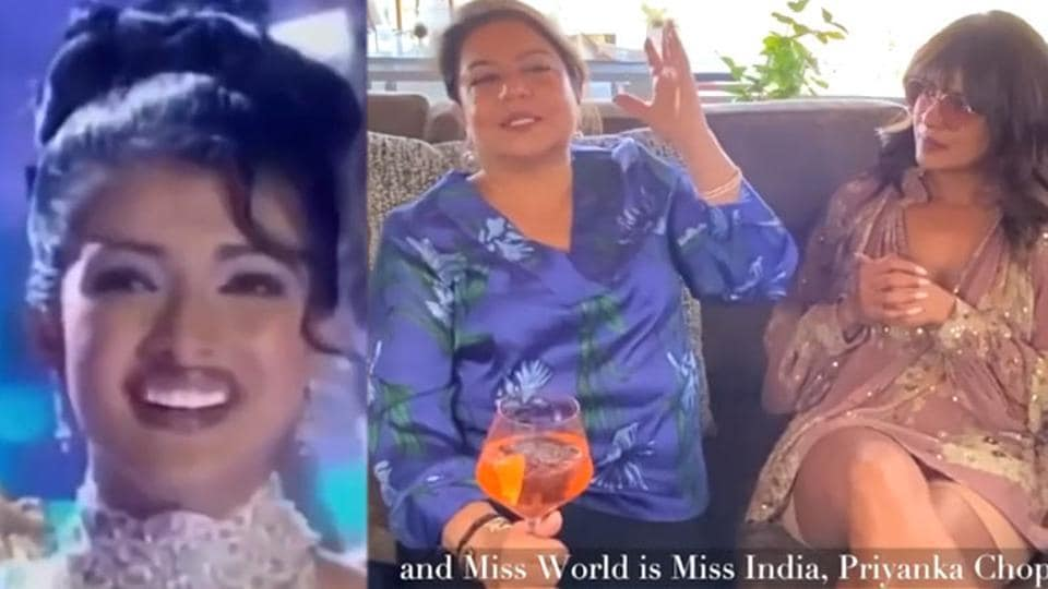 Priyanka Chopra has shared a video to talk about her crowning moment.