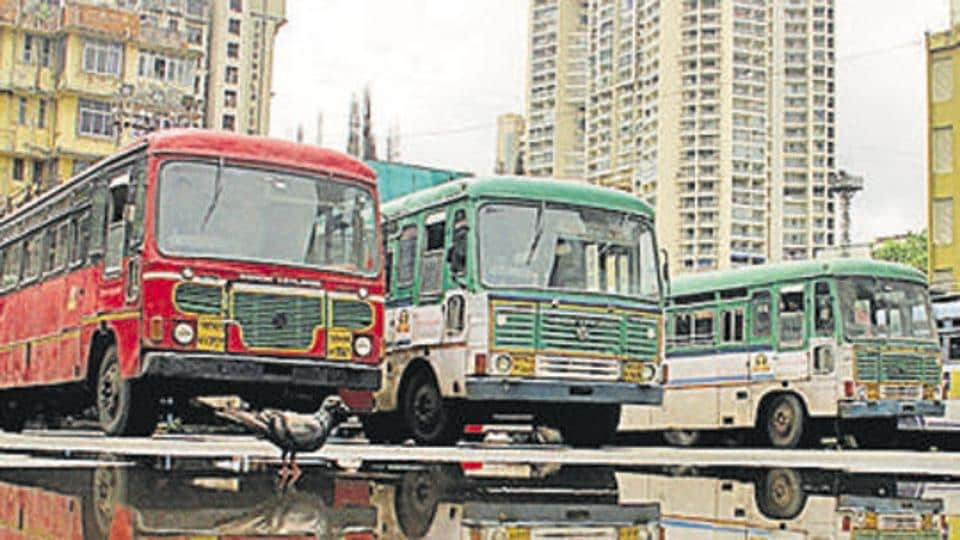 The MSRTCstaffers were operating its buses that had been hired by Brihan Mumbai Electric Supply and Transport (BEST)  in Mumbai .
