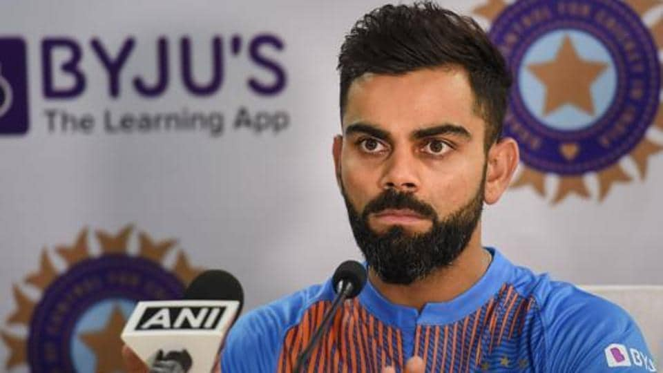 Indian cricket team captain Virat Kohli during a press conference in Dharamshala, on Saturday, Sept. 14, 2019. India and South Africa are scheduled to play their first T20 match of a three-match series on Sunday.