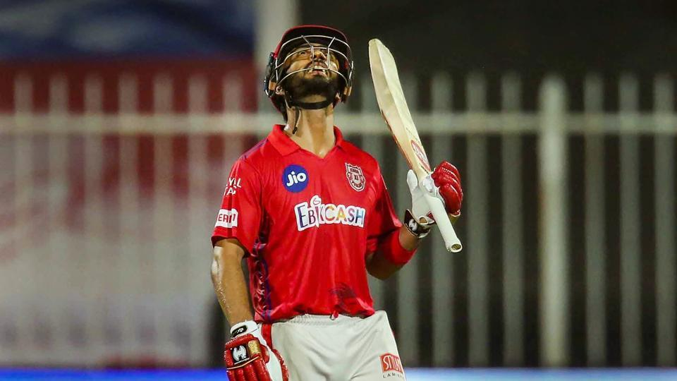 Mandeep Singh of Kings XI Punjab after scoring fifty runs during Indian Premier League (IPL) cricket match against Kolkata Knight Riders, in Sharjah.