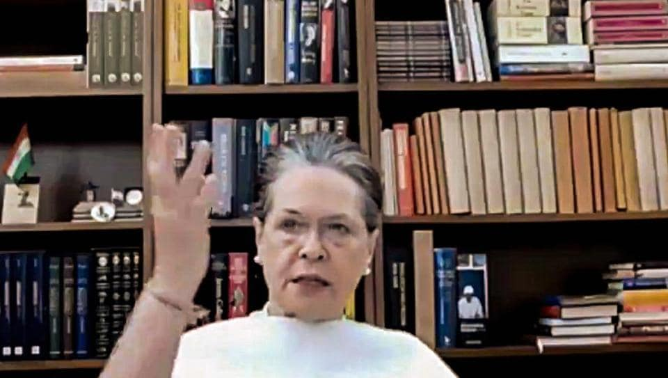 Congress president Sonia Gandhi delivered a video message a day before Bihar goes to the polls for the first phase. (File photo)