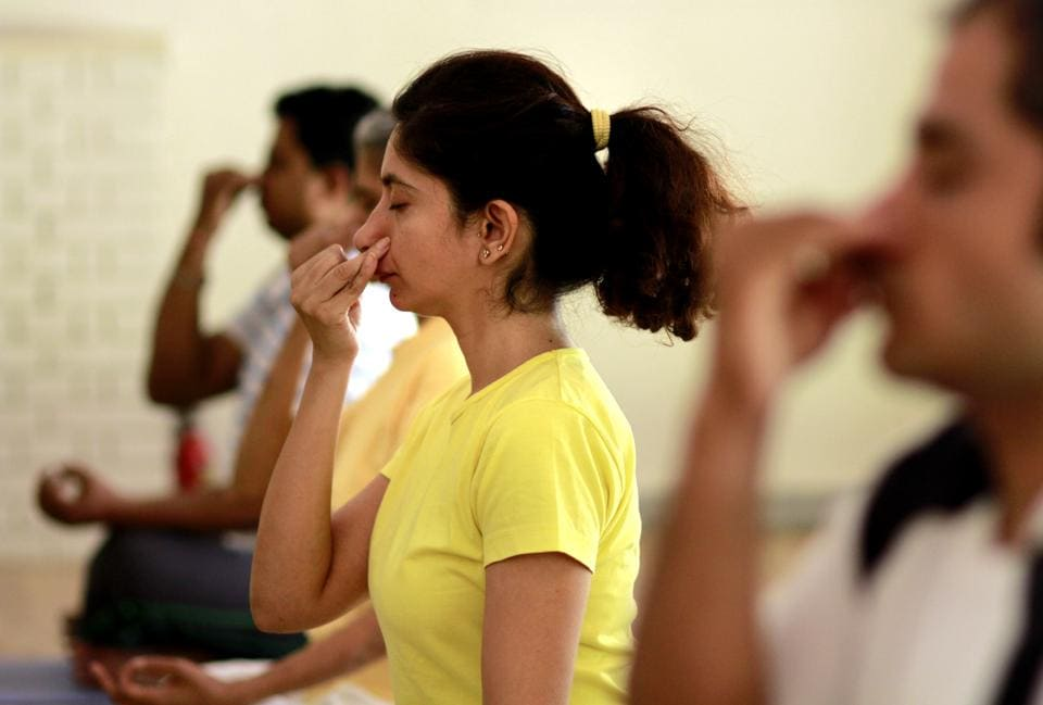 Indoor yoga classes are becoming a preferred choice among Delhi-NCR residents as air pollution rises.