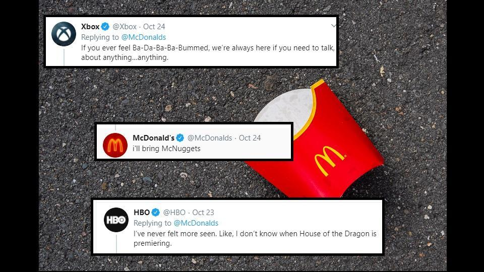 The tweet received many supportive replies from other brands.
