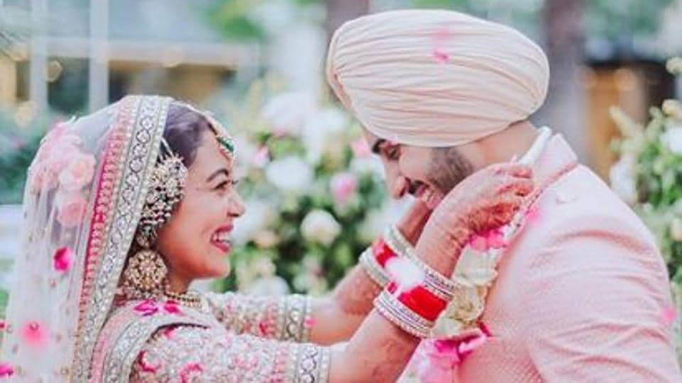 Singer Neha Kakkar got married to Rohanpreet Singh in Delhi on October 24.