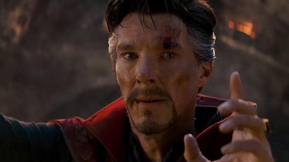 Benedict Cumberbatch as Doctor Strange in a still from Avengers: Endgame.