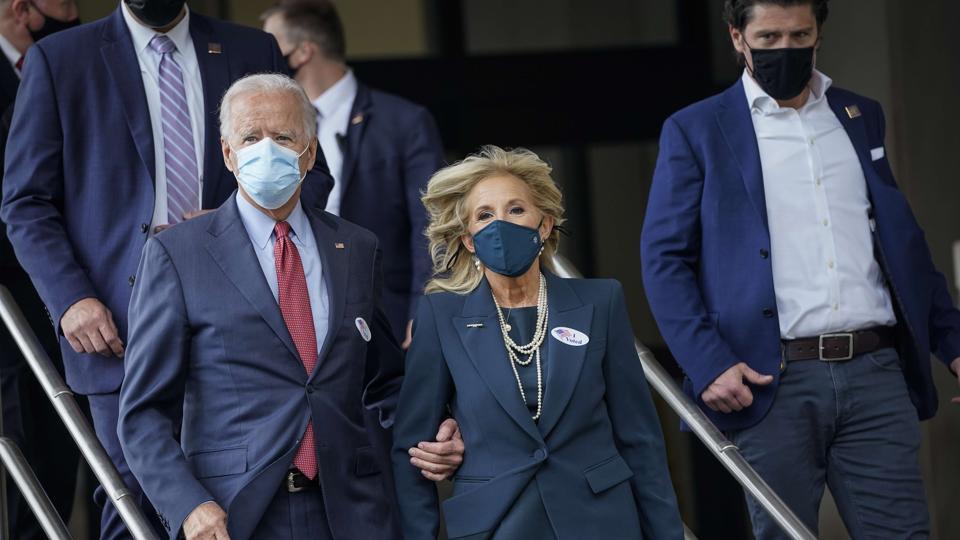 Joe Biden votes, attacks President Donald Trump over Covid-19 response
