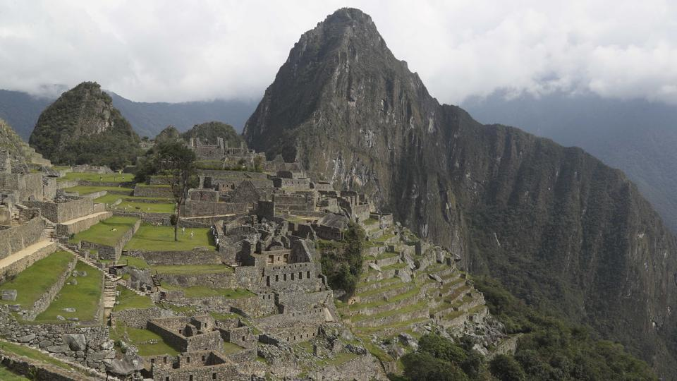 The Machu Picchu archeological site is devoid of tourists while it's closed amid the COVID-19 pandemic, in the department of Cusco, Peru, Tuesday, Oct. 27, 2020. Currently open to maintenance workers only, the world-renown Incan citadel of Machu Picchu will reopen to the public on Nov. 1.