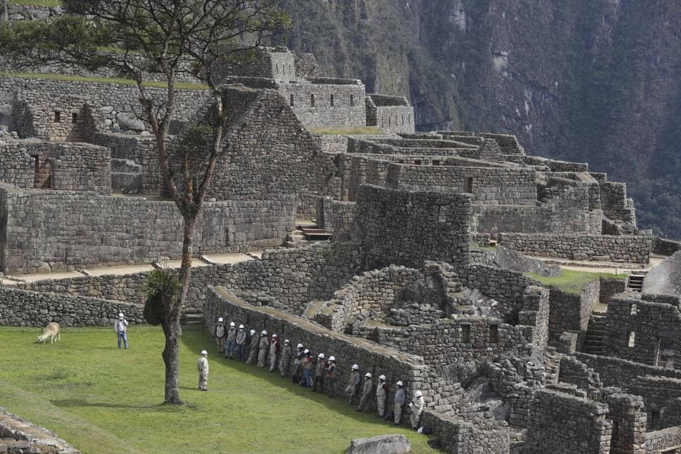 The Machu Picchu archeological site is devoid of tourists while it's closed amid the COVID-19 pandemic, in the department of Cusco, Peru, Tuesday, Oct. 27, 2020. Currently open to maintenance workers only, the world-renown Incan citadel of Machu Picchu will reopen to the public on Nov. 1. (AP)