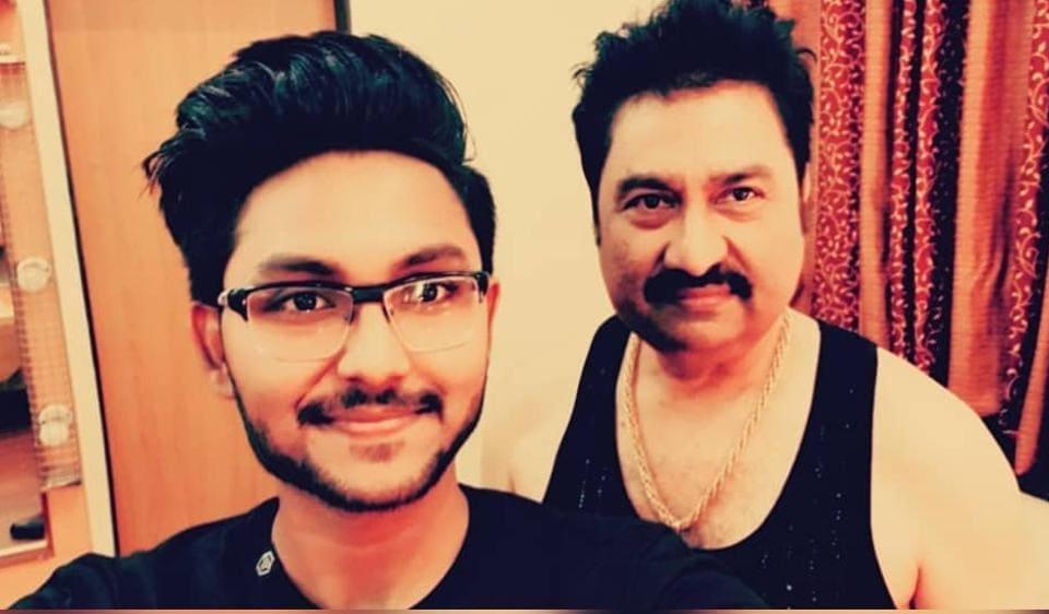 Kumar Sanu with son Jaan Kumar Sanu.
