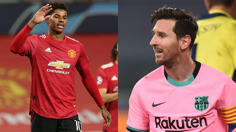 Marcus Rashford and Lionel Messi were the goal-scorers.