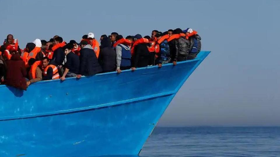The boat caught fire and capsized hours after leaving the town of Mbour for the Canary Islands on Saturday