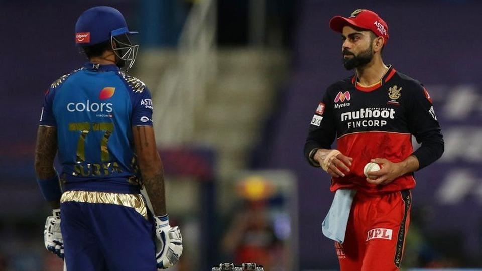 IPL 2020: Suryakumar Yadav and Virat Kohli entered a staring contest.