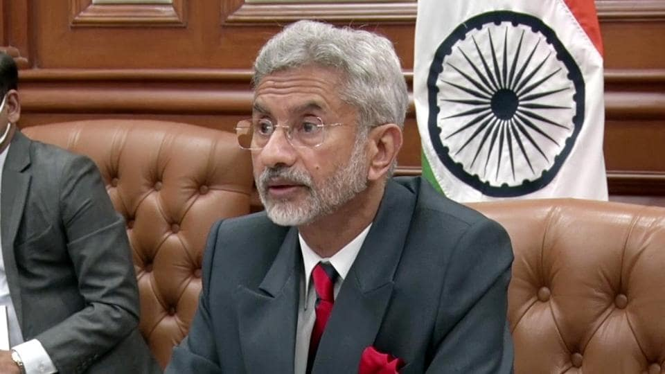 External Affairs Minister Dr. S Jaishankar attends the 2nd India-Central Asia Dialogue virtually via video conferencing in New Delhi on Wednesday.