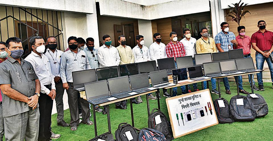 The gang would break into cars and steal laptops. The Pimpri Chinchwad Crime Branch Unit 4 made the arrests and recovered goods worth ₹12,77,000 on Thursday.