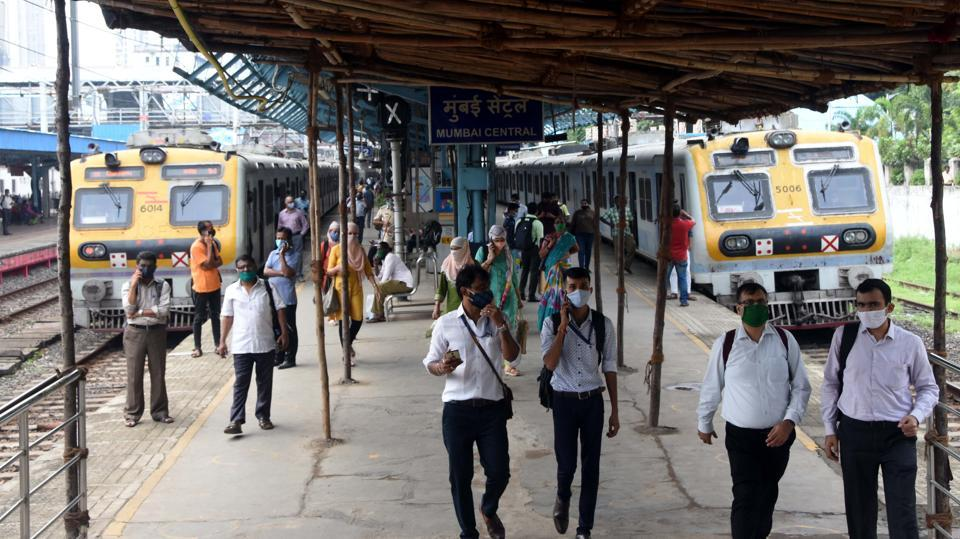 Commuters travelling  without masks on Mumbai's suburban railway network will be fined Rs. 200 .