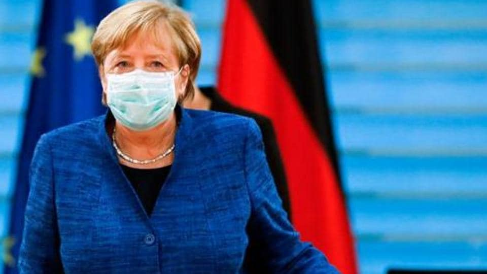 German Chancellor Angela Merkel said authorities had no choice but to drastically reduce social contacts as three-quarters of infections in Germany now can't be traced anymore.