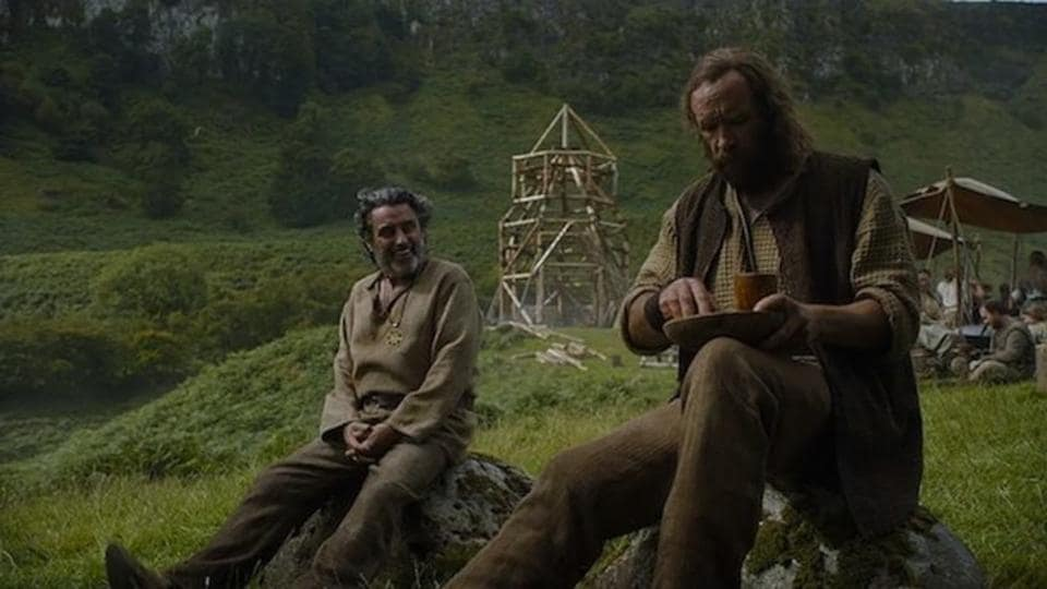 Ian McShane and Rory McCann in a still from Game of Thrones.
