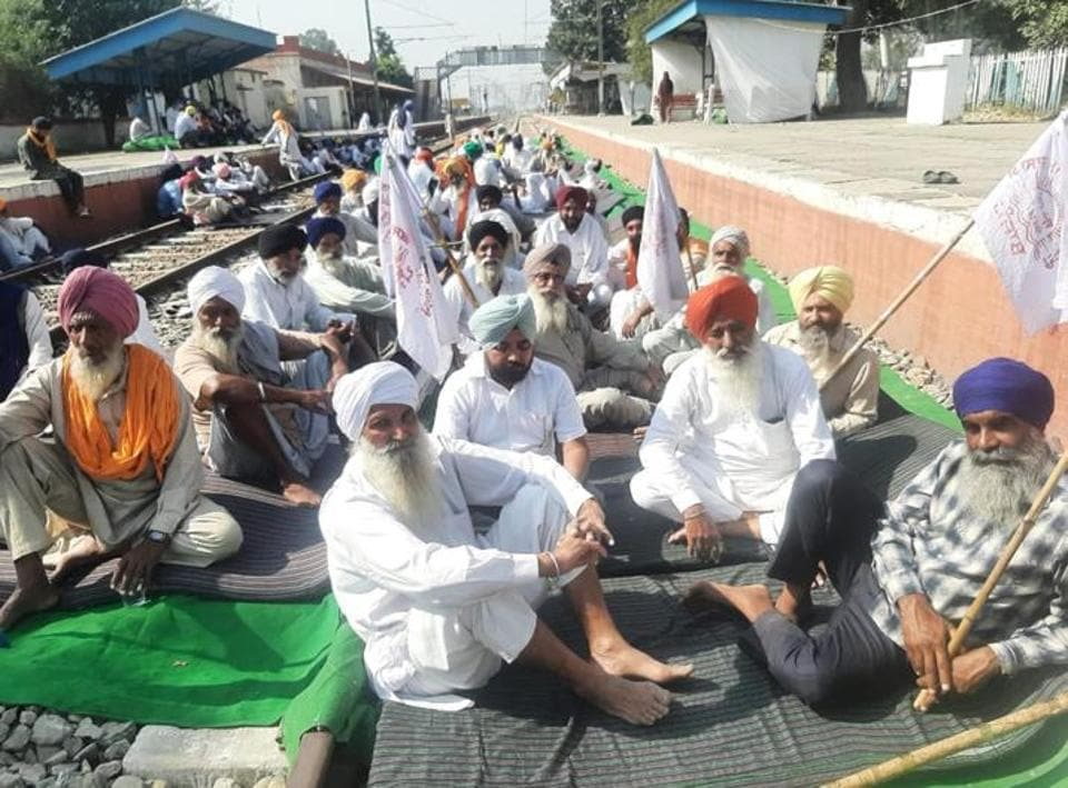 Activists of the Kisan Mazdoor Sangharsh Committee (KMSC), the organisation that has spearheaded the rail blockade since September 24, has shifted the dharna from Devidas Pura to Jandiala Guru station but its members refused to lift the blockade.