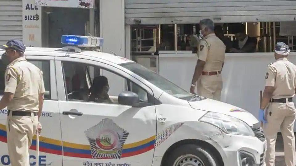 File photo of Mumbai police. (Satyabrata Tripathy/HT Photo)