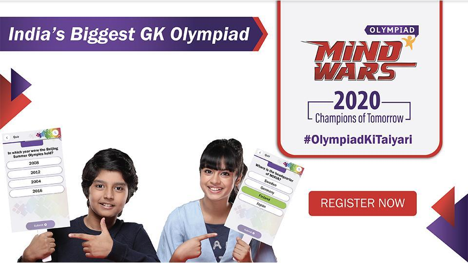 Mind Wars Olympiad provides a national platform where kids can solve quizzes and get recognised on a national level.