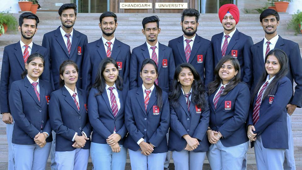 Students of the 2021 batch of Chandigarh University, who have bagged jobs with top MNCs.