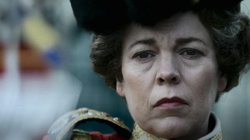 Olivia Colman in a still from The Crown season 4 trailer.