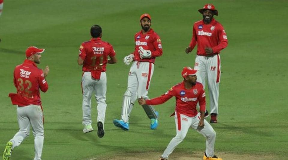 Photo of Kings Xi Punjab team from an IPL 2020 match in UAE