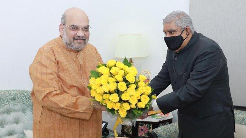 West Bengal governor Jagdeep Dhankhar on Thursday met Union Home Minister Amit Shah in New Delhi.