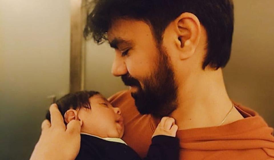 Gaurav Chopraa with his son, Prince Chopra.