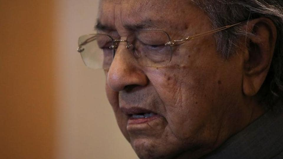 Malaysia's former Prime Minister Mahathir Mohamad during a news conference in Putrajaya, Malaysia.