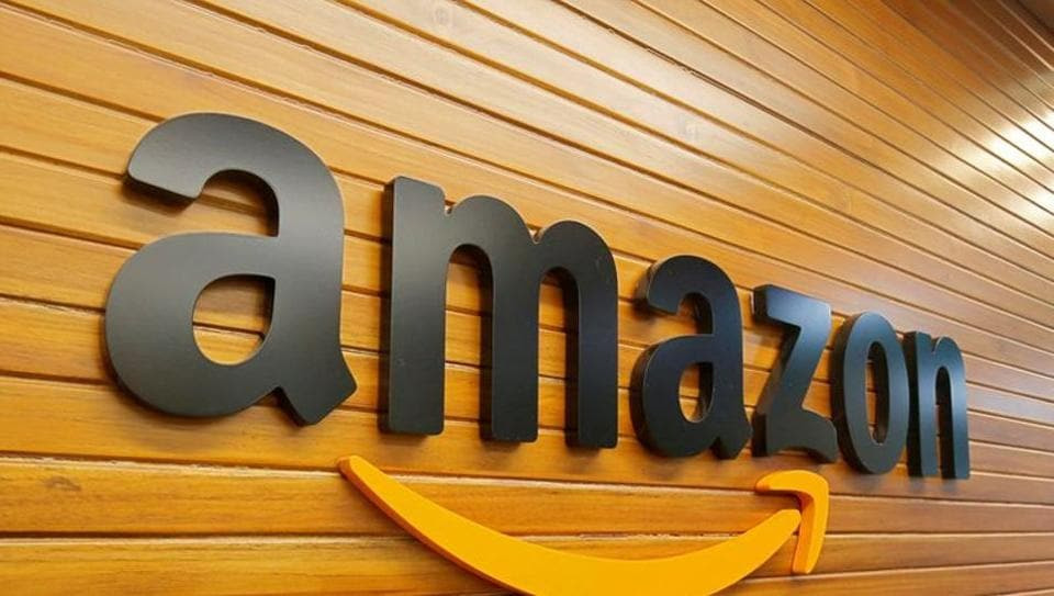 The logo of Amazon is pictured inside the company's office in Bengaluru (REUTERS/Abhishek N. Chinnappa/File Photo)