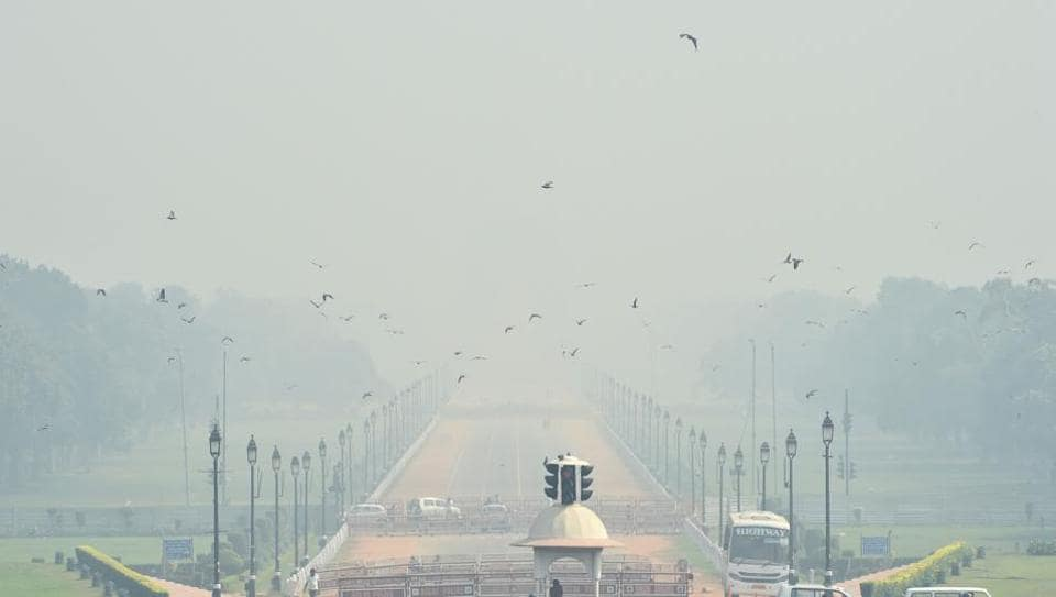 Pollution level in the national Capital is in very poor category at 7 am on Friday.