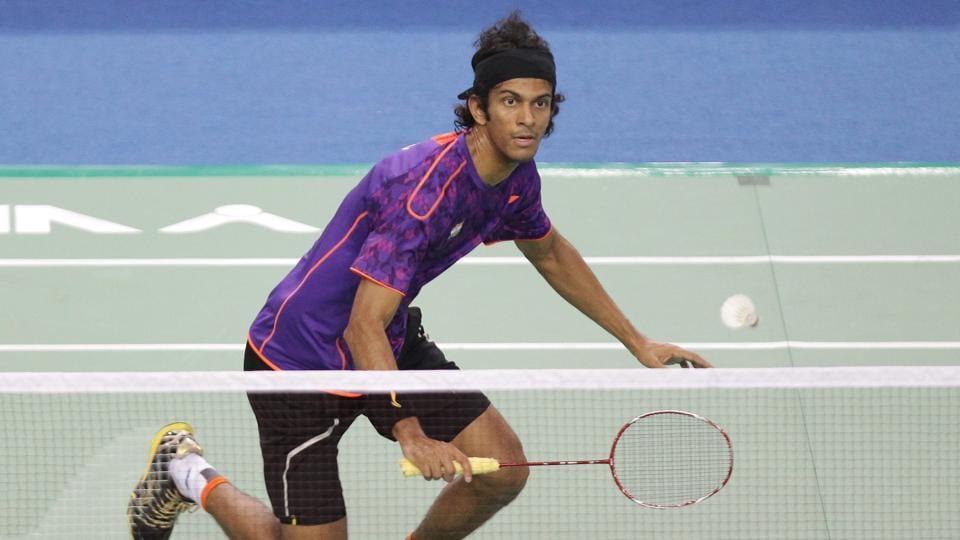 Ajay Jayaram of India compete against Chen Long of China in the Men's SIngles Final match during the 2015 Viktor Korea Badminton Open on September 20, 2015 in Seoul.