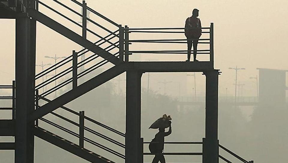 A skywalk near the Delhi-Meerut expressway on Friday