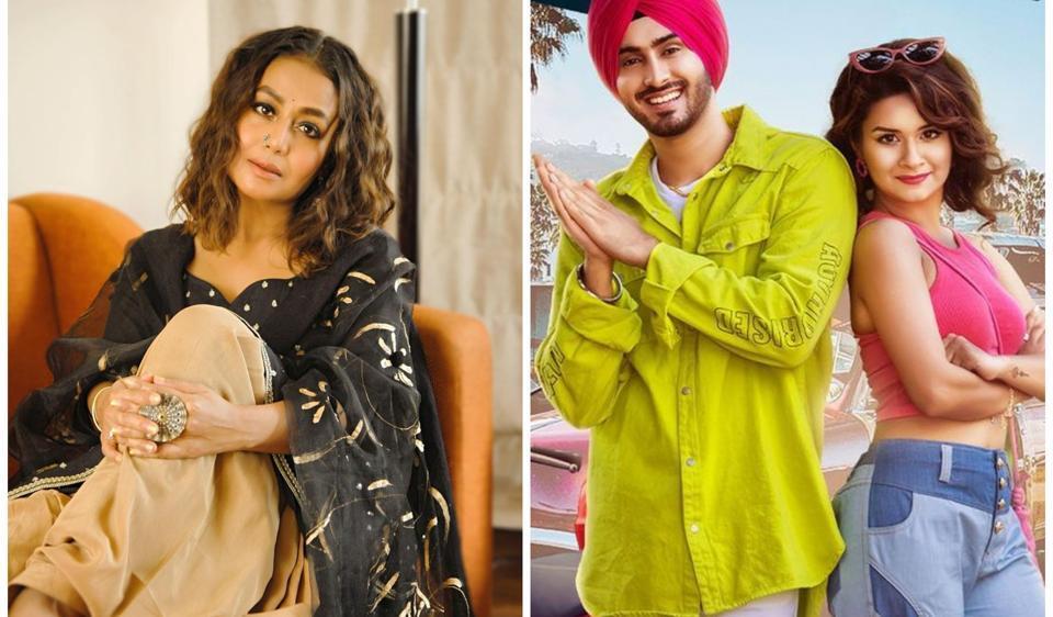 Neha Kakkar shared the cover art for Rohanpreet Singh's new song Ex Calling.