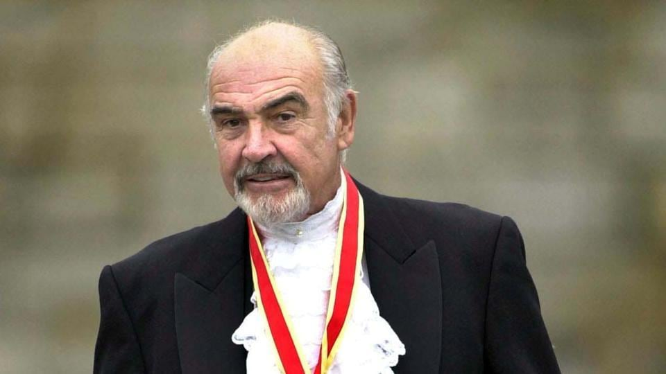 Sir Sean Connery after he was formally knighted by the Britain's Queen Elizabeth in Edinburgh.