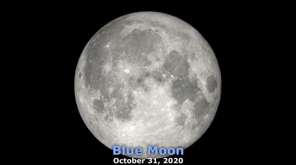 The image shows a Blue Moon.